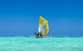 Картинка лодка, рыбаки, Мадагаскар, Madagascar, sail, fishers