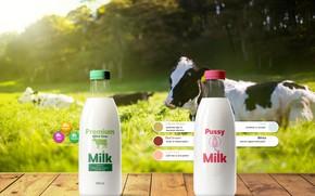 Картинка milk, cow, bottle
