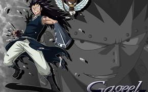 Картинка аниме, арт, парень, хвост феи, Fairy Tail