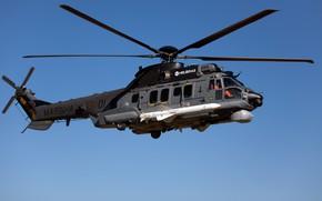 Картинка Вертолет, Airbus, Airbus Helicopters, H225, Airbus Helicopters H225M, ПКР, MBDA, AM39 Exocet, ВМС Бразилии