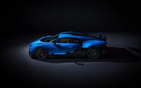 Картинка Bugatti, вид сбоку, гиперкар, Chiron, 2020, Pur Sport