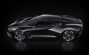 Картинка машина, черный, Bugatti, стильный, гиперкар, La Voiture Noire