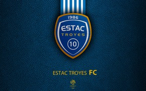 Картинка wallpaper, sport, logo, football, Ligue 1, Estac Troyes