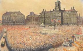 Картинка Jan Gregoire, Ян Грегуар, Празднование Победы на Площади Дам 9 мая 1945