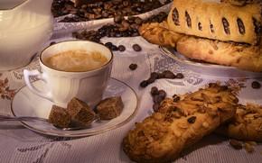 Картинка кофе, пирог, десерт