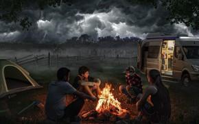 Картинка zombie, zombie Apocalypse, zombie paradise, The wallking dead