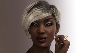 Картинка девушка, фон, макияж