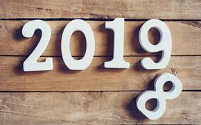 Картинка зима, снежинки, дерево, доски, Новый Год, new year, wood, winter, background, snowflakes, 2019