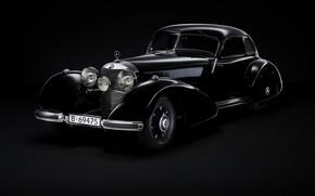 Картинка ретро, купе, Mercedes-Benz, 540K