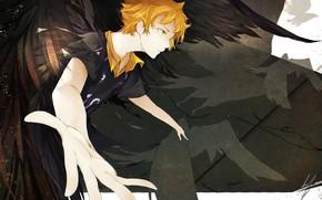 Картинка аниме, арт, парень, Волейбол, Haikyuu!!, Хината Сё