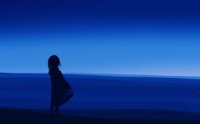 Картинка девочка, сумерки, постапокалипсис, by Gracile, пустяня