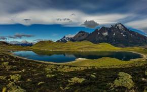 Картинка горы, озеро, Чили, Патагония