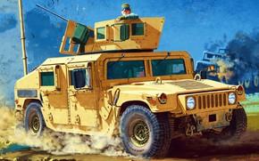 Картинка US Army, Chang Heum, Humvee, M1151 Enhanced Armament Carrier, американский армейский вседорожник, транспортное средство, высокоподвижное …
