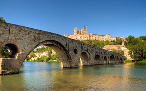 Картинка мост, река, Франция, Безье