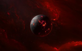 Картинка Звезды, Планета, Космос, Арт, Stars, Space, Art, Planet, background by StarkitecktDesigns, Habetras II, Jehudi Crezee, …