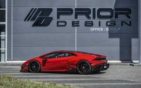 Картинка Lamborghini, 2018, Widebody, Prior-Design, Huracan, PDLP610WB, Aerodynamik-Kit