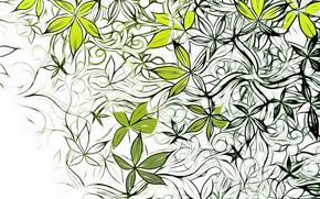 Обои цветы, узор, вектор, текстура, design, art, background, pattern