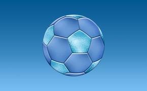 Картинка игры, футбол, спорт, мяч, синее, спортивные игры, соккер, голубая текстура