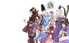 Картинка Onmyouji, Yuki Onna, Abe no Seimei, Onmyouji (NetEase), Mou Baa, Hakurou, Hangan