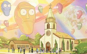 Картинка Церковь, Smith, Мультфильм, Вера, Sanchez, Rick, Rick and Morty, Рик и Морти, Morty, Rick Sanchez, …