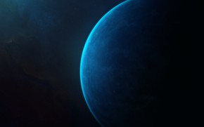 Картинка Звезды, Планета, Космос, Fantasy, Арт, Stars, Space, Art, Planet, Фантастика, StarkitecktDesigns, by StarkitecktDesigns, Azure Gem