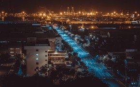 Картинка ночь, город, Тайвань, Гаосюн