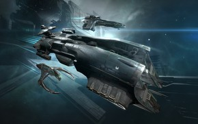 Картинка туманность, станция, Космос, space, космический корабль, eve online, space ship, космоопера