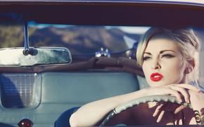 Картинка Girl, Car, Model, Blonde, Carissa White