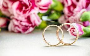 Картинка букет, Обручальные кольца, свадьба