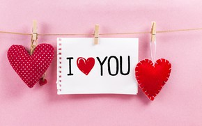 Картинка любовь, сердце, сердечки, red, love, romantic, hearts, valentine's day, I love You