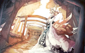 Картинка девушка, ушки, Touhou, хвосты, Тохо, Тоухоу