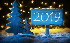 Картинка зима, снег, снежинки, фон, праздник, Новый Год, ёлка, christmas, winter, декор, 2019 год