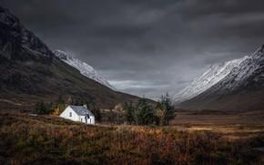 Картинка горы, дом, Scottish Highlands