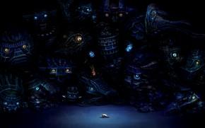 Картинка глаза, человек, монстры, heriki (trkj), shadow of the colossus, wander