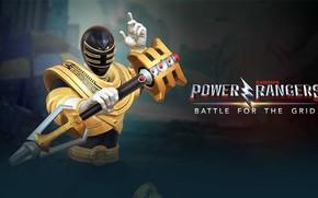 Картинка game, armor, weapon, warrior, Power Rangers, staff, Zeo, gold ranger, nWay, Power Rangers: Battle for …