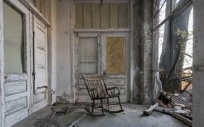 Картинка дом, кресло, дверь, натурализм
