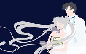 Картинка девушка, романтика, пара, парень, двое, Sailor Moon