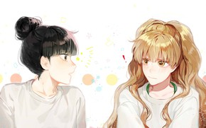 Картинка белый фон, двое, Kimi ni Todoke, Дотянуться до тебя, Sawako Kuronuma, Ume Kurumizawa