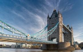 Картинка мост, Лондон, Великобритания, Tower Bridge, London