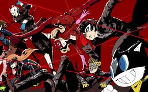 Картинка игра, аниме, арт, персонажи, костюмы, Persona 5, Персона 5