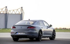 Картинка серый, купе, Volkswagen, корма, лифтбэк, 2020, Arteon, 4Motion, R-Line Edition