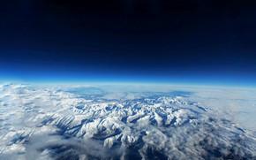 Картинка небо, космос, облака, синий, земля, голубой, воздух