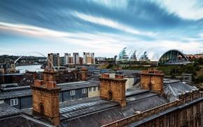 Картинка Old and New, Millennium Bridge, Newcastle