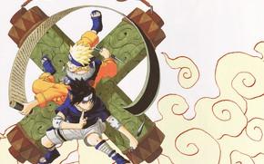 Картинка Наруто, Naruto, мальчики, Саске Учиха, Узумаки Наруто