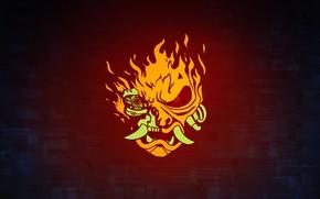 Картинка Игра, Лого, Клыки, Морда, CD Projekt RED, Cyberpunk 2077, Киберпанк, Cyberpunk, Киберпанк 2077, 2077, Видеоигра