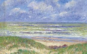 Картинка пейзаж, картина, Анри Море, Henry Moret, Северное Море