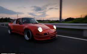 Картинка Закат, 911, Porsche, Carrera, Speedhunters