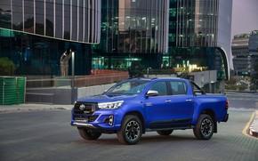 Картинка авто, город, фото, Toyota, Hilux, 2019