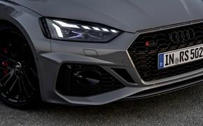 Картинка Audi, купе, фара, капот, перед, RS 5, 2020, RS5 Coupe