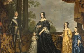 Картинка масло, портрет, картина, холст, Геррит ван Хонтхорст, Gerard van Honthorst, 1647, Фредерик Генри его жена …